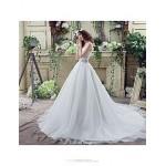 Wedding Dress - White Court Train Sweetheart Georgette Wedding Dresses