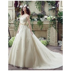 Wedding Dress Champagne Court Train Sweetheart Georgette