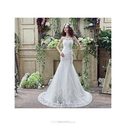 Trumpet Mermaid Wedding Dress Ivory Court Train Off The Shoulder Crepe Tulle