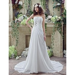 Wedding Dress Ivory Court Train Sweetheart Chiffon