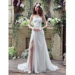 Wedding Dress - Ivory Court Train Sweetheart Chiffon Wedding Dresses