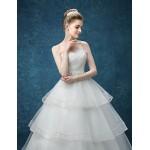 A-line Wedding Dress - White Floor-length Sweetheart Organza / Satin Wedding Dresses