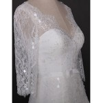 Fit & Flare Wedding Dress - Ivory Cathedral Train V-neck Lace / Tulle Wedding Dresses