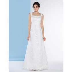 Trumpet/Mermaid Wedding Dress - Ivory Floor-length Straps Lace
