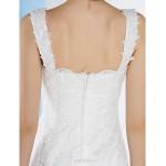 Trumpet/Mermaid Wedding Dress - Ivory Floor-length Straps Lace Wedding Dresses