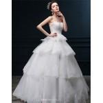 Ball Gown Wedding Dress Ivory Floor Length Sweetheart Tulle