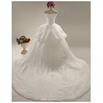 A-line Wedding Dress - White Chapel Train Sweetheart Lace / Satin Wedding Dresses