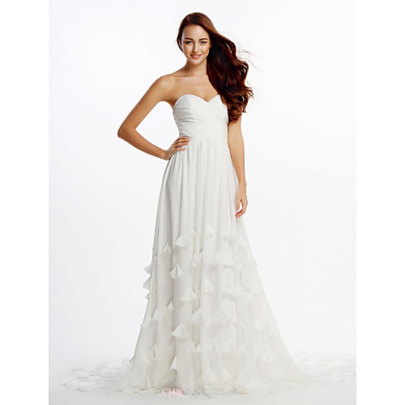 Ivory Cathedral Train Strapless