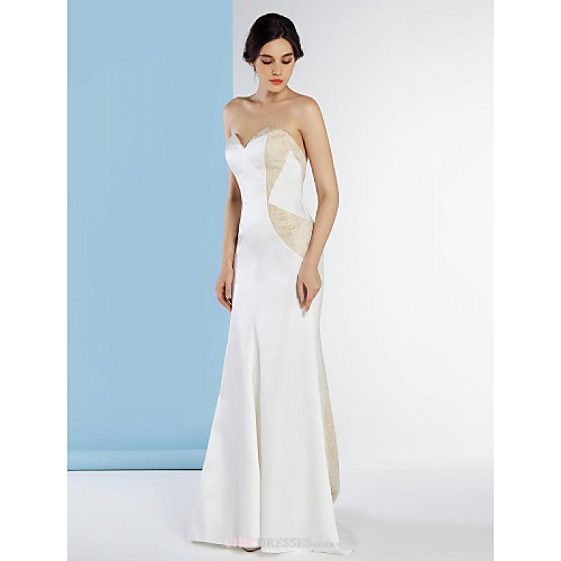 ed1df3a53 ... Trumpet/Mermaid Wedding Dress - Ivory Court Train Sweetheart Lace / Knit  Wedding Dresses ...