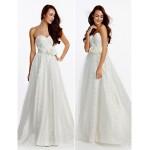 A-line Wedding Dress - Ivory Sweep/Brush Train Sweetheart Satin / Tulle Wedding Dresses