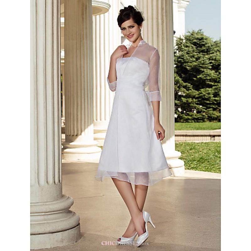 Cheap White Wedding Dress Uk: A-line/Princess Plus Sizes Wedding Dress