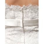 Sheath/Column Plus Sizes Wedding Dress - Ivory Short/Mini Sweetheart Lace Wedding Dresses
