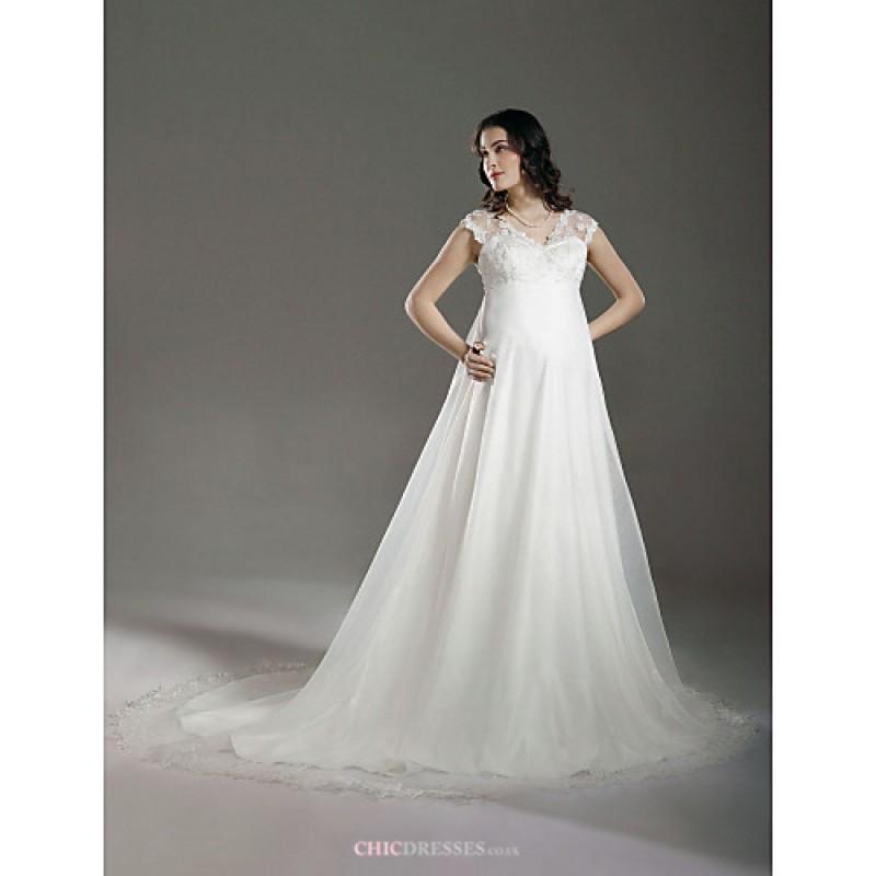 A Line Princess Maternity Wedding Dress Ivory Court
