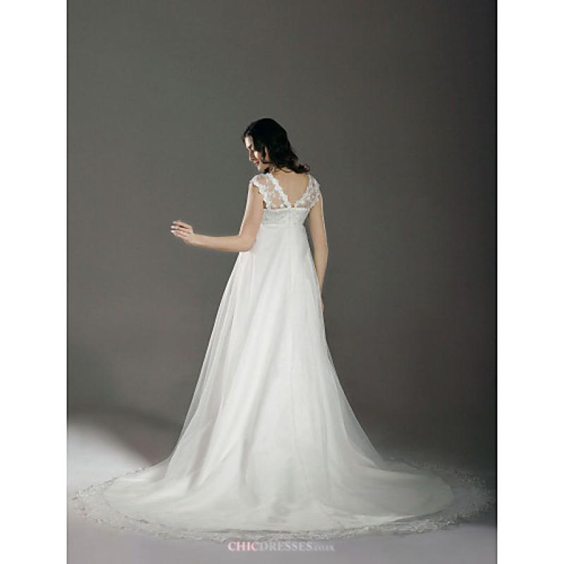 Cheap Maternity Wedding Dresses Under 100: A-line/Princess Maternity Wedding Dress