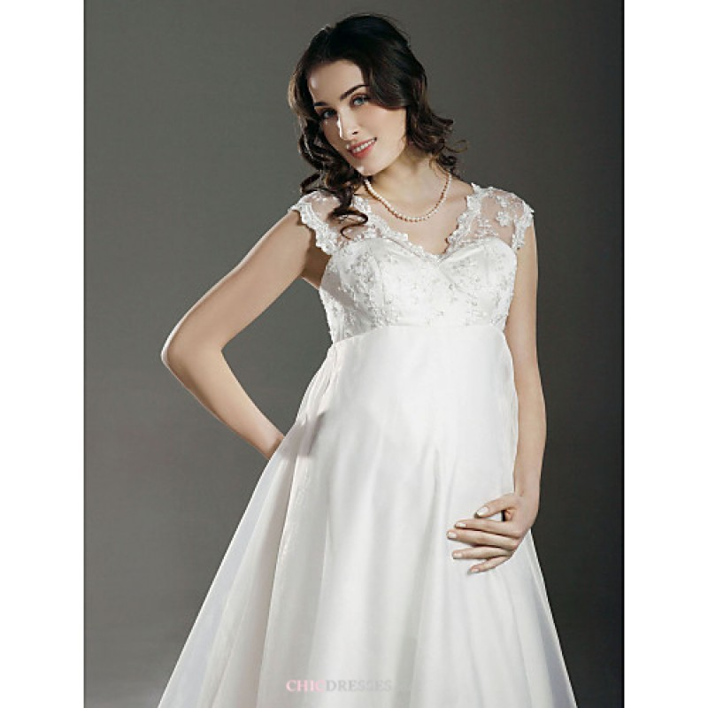 Pregnant Wedding Dresses: A-line/Princess Maternity Wedding Dress