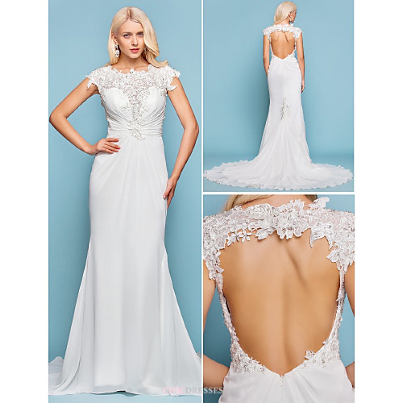 Trumpet/Mermaid Plus Sizes Wedding Dress - Ivory Court Train Jewel ...