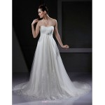 A-line/Princess Maternity Wedding Dress - Ivory Court Train Sweetheart Tulle Wedding Dresses