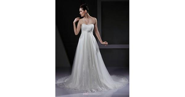A-line/Princess Maternity Wedding Dress