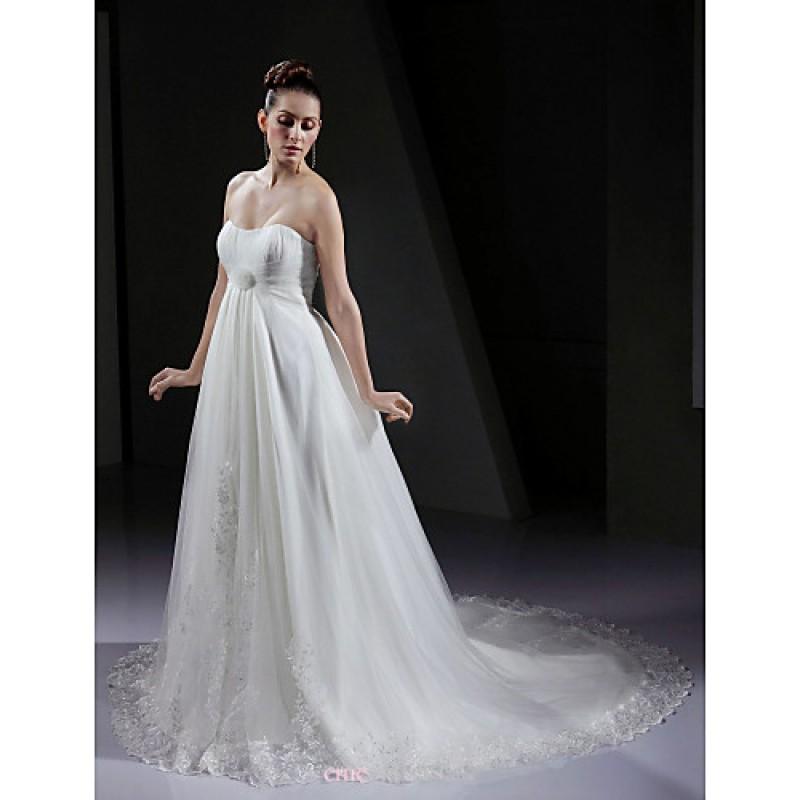 Maternity Wedding Dresses Under 100: A-line/Princess Maternity Wedding Dress