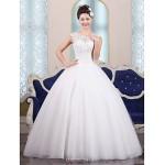 Ball Gown Floor-length Wedding Dress -Jewel Tulle Wedding Dresses