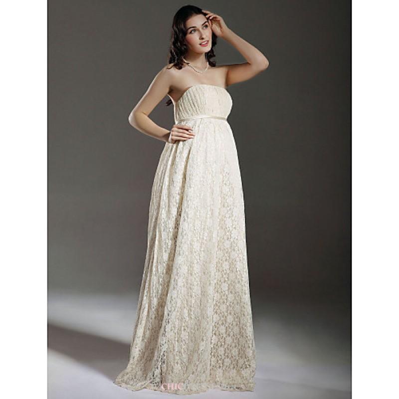Cheap Maternity Wedding Dresses Under 100: Sheath/Column Maternity Wedding Dress