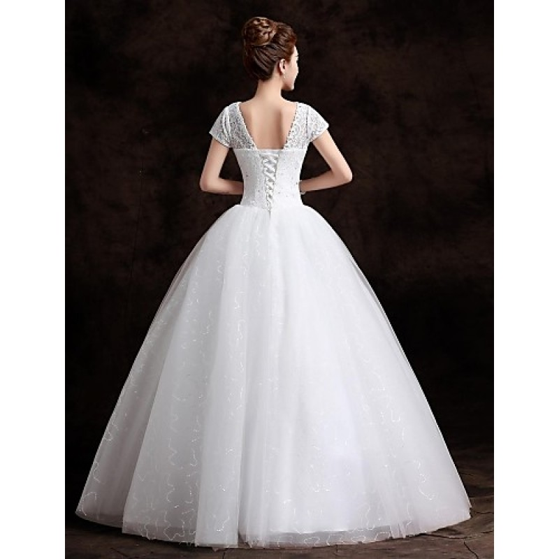 Ball Gown Wedding Dresses Uk: Ball Gown Floor-length Wedding Dress -Bateau Lace,Cheap Uk