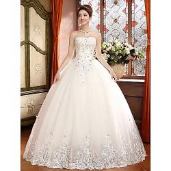 Ball Gown Floor Length Wedding Dress Sweetheart Lace