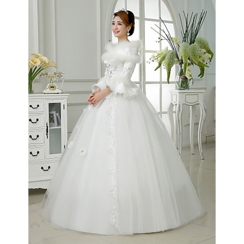 Ball Gown Wedding Dresses Uk: Ball Gown Floor-length Wedding Dress -Off-the-shoulder