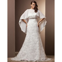 Trumpet/Mermaid Plus Sizes Wedding Dress - Ivory Court Train Sweetheart Lace/Chiffon