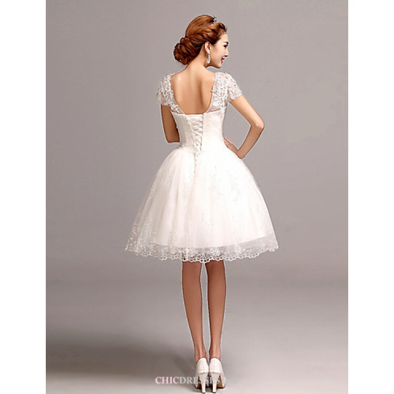 Cheap Wedding Dresses Ebay Uk: A-line Short/Mini Wedding Dress