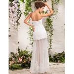 A-line / Princess Petite / Plus Sizes Wedding Dress - Ivory Floor-length Sweetheart Tulle Wedding Dresses