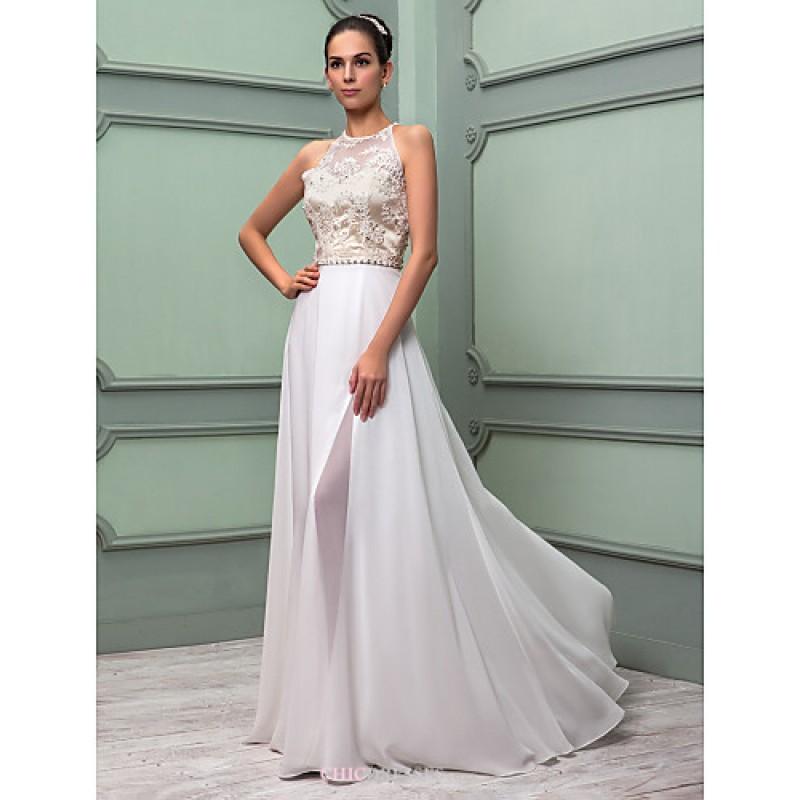 Sheath/Column Plus Sizes Wedding Dress