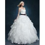 Ball Gown Wedding Dress - White Floor-length Sweetheart Velvet Chiffon Wedding Dresses