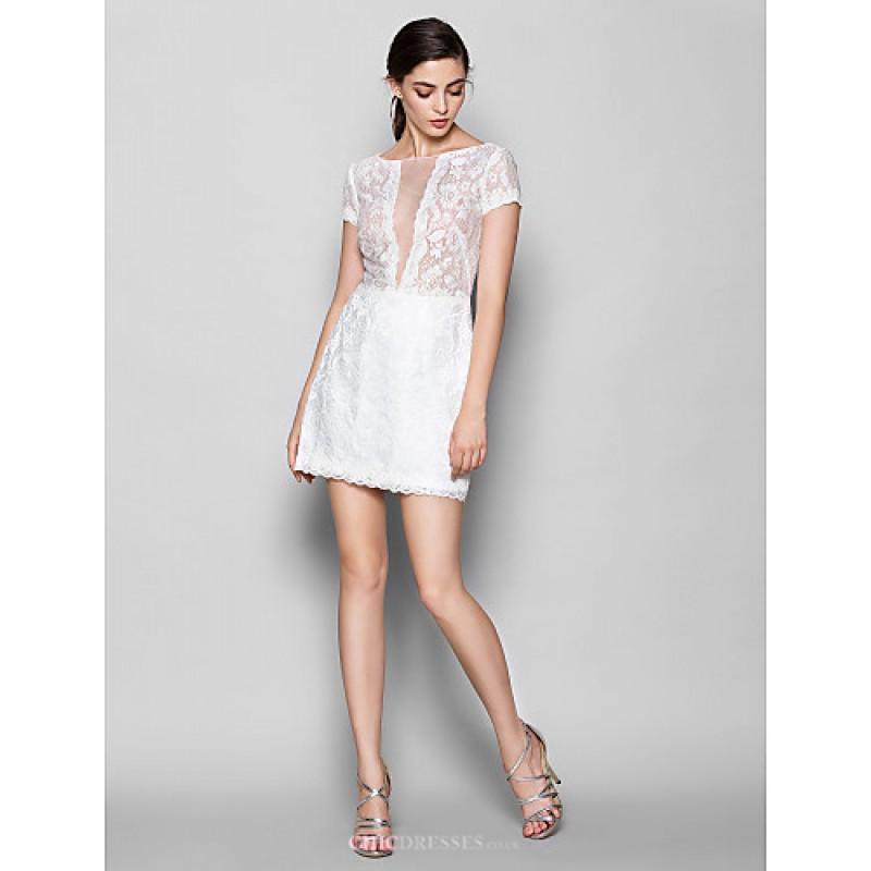 Shortmini Lace Bridesmaid Dress White Plus Sizes Petite Sheathcolumn Scoop