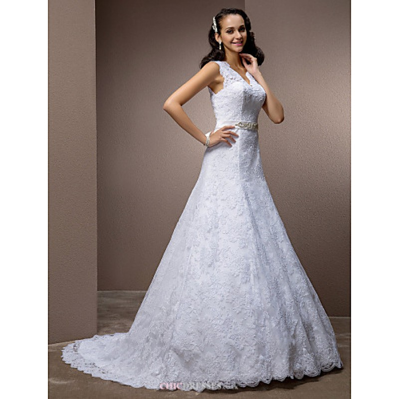 A line princess plus sizes wedding dress white court for Princess plus size wedding dresses