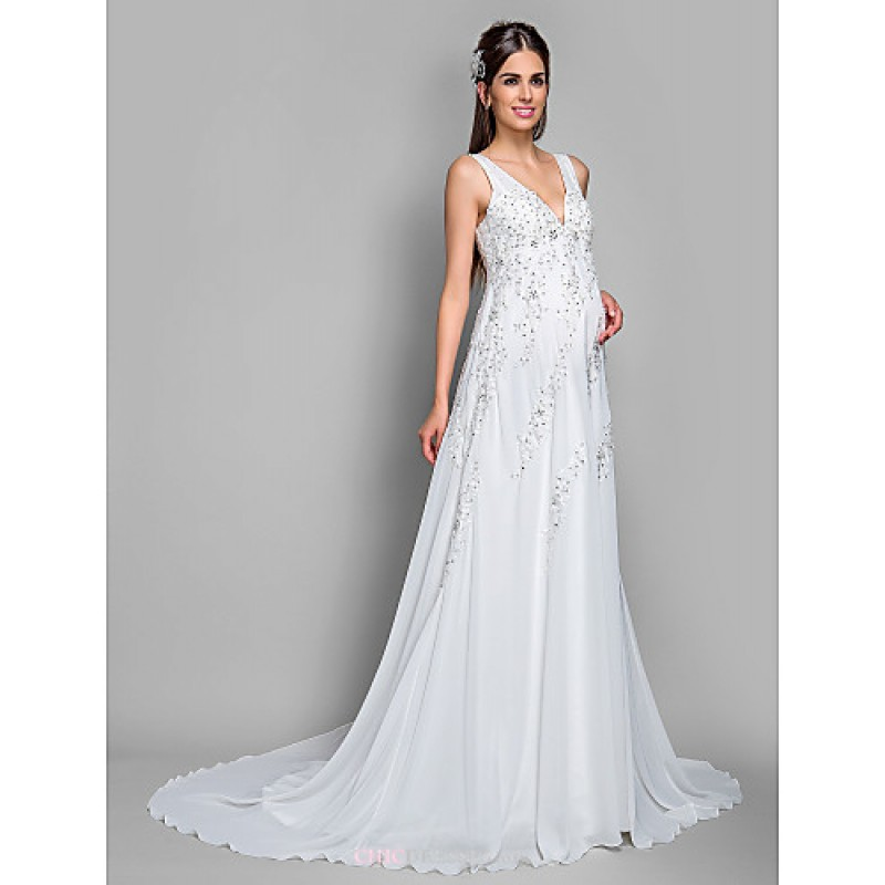 Short Maternity Wedding Dresses: A-line Maternity Wedding Dress