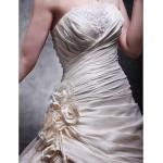 A-line Plus Sizes Wedding Dress - Champagne Cathedral Train Strapless Taffeta/Lace Wedding Dresses