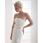 Trumpet/Mermaid Plus Sizes Wedding Dress - Ivory Court Train Strapless Satin/Organza Wedding Dresses