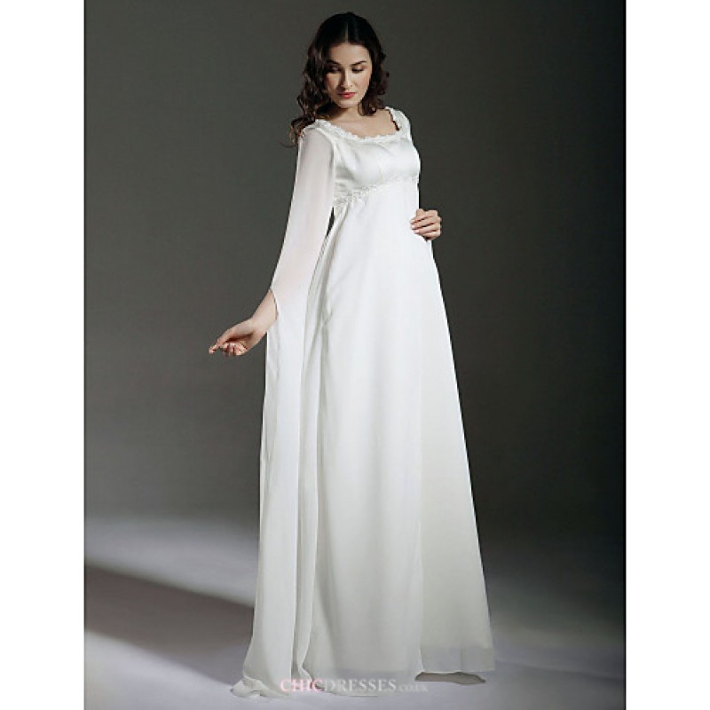 Sheath column maternity wedding dress ivory floor length for Maternity wedding dresses under 100