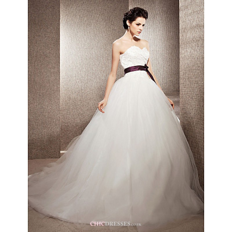 Ball gown petite plus sizes wedding dress ivory chapel for Wedding dresses petite sizes
