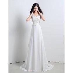 Trumpet/Mermaid Sweetheart Sweep/Brush Train Wedding Dress