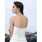 A-line Court Train Wedding Dress - Strapless Lace/Tulle Wedding Dresses