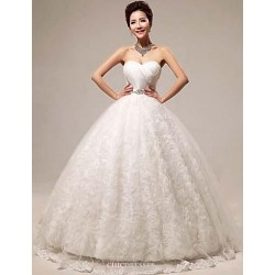 Ball Gown Floor-length Wedding Dress -Sweetheart Lace
