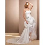 A-line/Princess Plus Sizes Wedding Dress - Ivory Asymmetrical Sweetheart Organza Wedding Dresses
