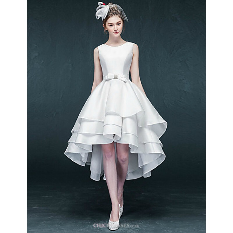 A-line Asymmetrical Wedding Dress