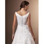 A-line Petite / Plus Sizes Wedding Dress - Ivory Chapel Train Scoop Lace Wedding Dresses