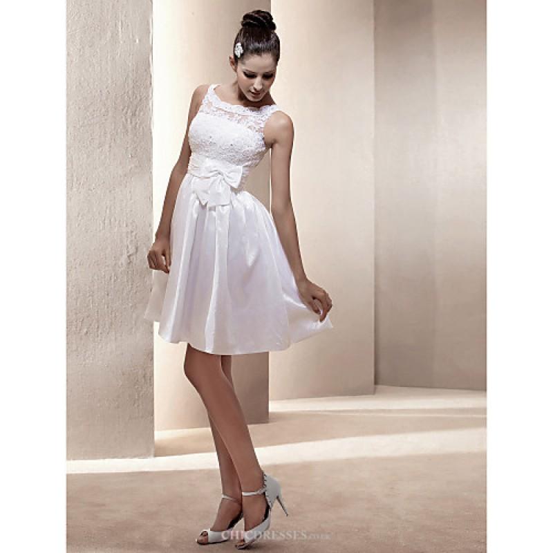 A line princess plus sizes wedding dress ivory short for Simple wedding dresses short