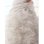 Fit & Flare Plus Sizes Wedding Dress - Ivory Court Train One Shoulder Taffeta Wedding Dresses