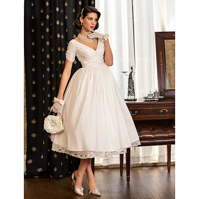 A-line / Princess Petite / Plus Sizes Wedding Dress