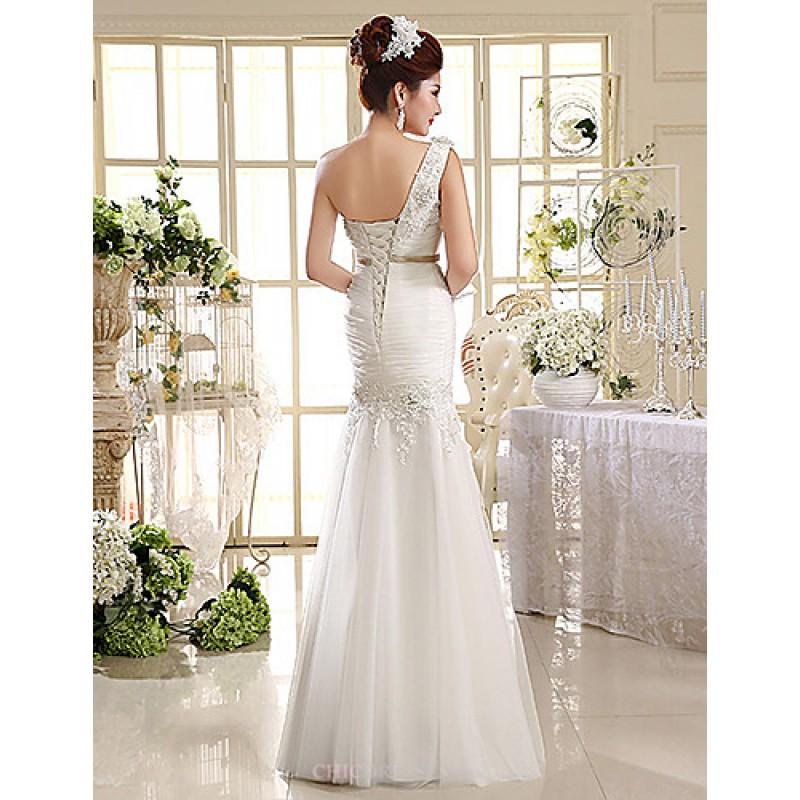 Ball Gown Trumpet Mermaid Wedding Dress Floor Length One